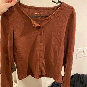 Long sleeve cropped AMERICAN EAGLE sweater shirt